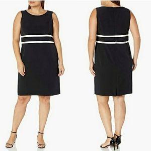 Black Label by Evan Picone Piped Sheath Dress